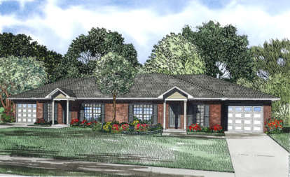 2 Bed, 1 Bath, 852 Square Foot House Plan - #110-00854
