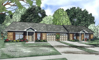 2 Bed, 1 Bath, 852 Square Foot House Plan - #110-00855