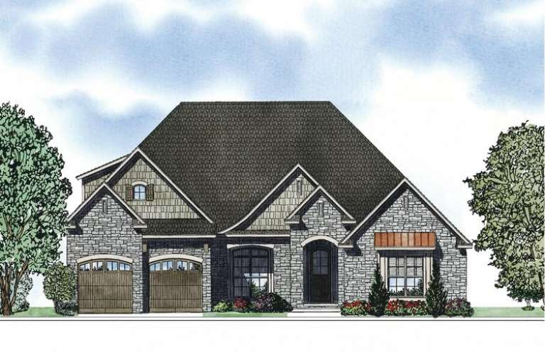 French Country House Plan #110-00866 Elevation Photo