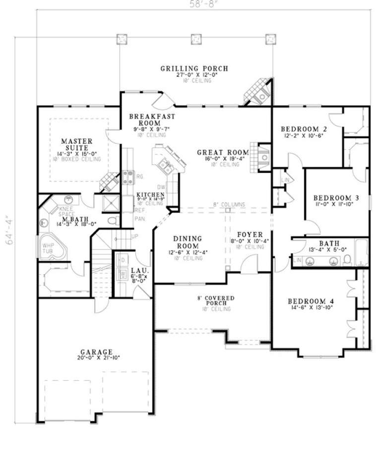Floorplan 1 for House Plan #110-00866