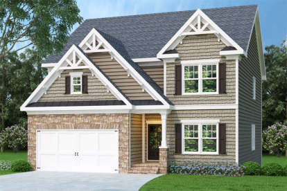 4 Bed, 3 Bath, 2330 Square Foot House Plan - #009-00114