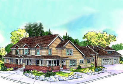 4 Bed, 4 Bath, 3370 Square Foot House Plan - #035-00373