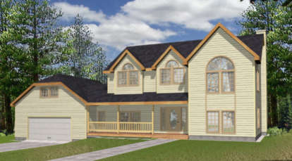 4 Bed, 2 Bath, 2455 Square Foot House Plan - #039-00084