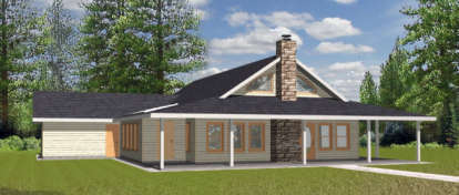2 Bed, 2 Bath, 2008 Square Foot House Plan - #039-00085