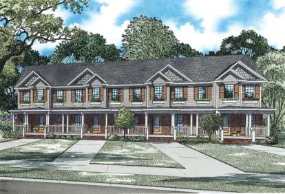 2 Bed, 2 Bath, 980 Square Foot House Plan - #110-00876