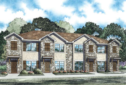 2 Bed, 2 Bath, 1053 Square Foot House Plan - #110-00882