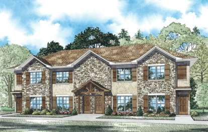 2 Bed, 2 Bath, 1040 Square Foot House Plan - #110-00883
