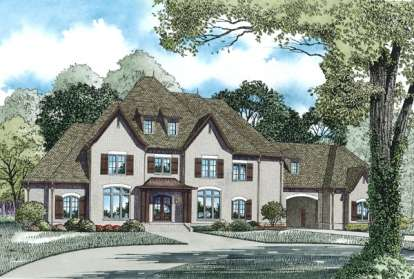 4 Bed, 4 Bath, 6674 Square Foot House Plan - #110-00890