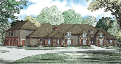 5 Bed, 4 Bath, 7784 Square Foot House Plan - #110-00891