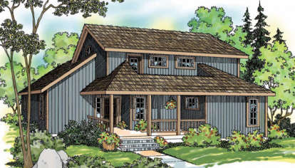 2 Bed, 2 Bath, 1611 Square Foot House Plan - #035-00561