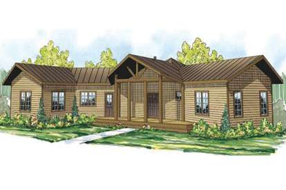 2 Bed, 2 Bath, 1735 Square Foot House Plan - #035-00562