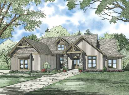 6 Bed, 4 Bath, 6089 Square Foot House Plan - #110-00899