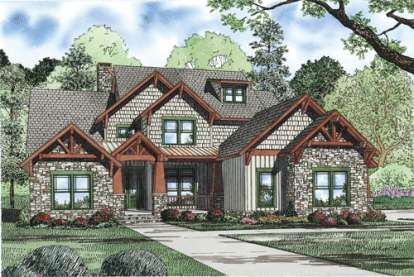 4 Bed, 3 Bath, 3600 Square Foot House Plan - #110-00900
