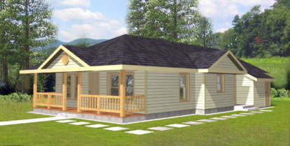 3 Bed, 1 Bath, 1192 Square Foot House Plan - #039-00096