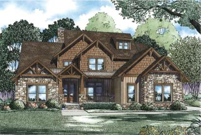 4 Bed, 3 Bath, 3783 Square Foot House Plan - #110-00901