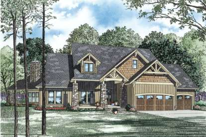 4 Bed, 3 Bath, 3345 Square Foot House Plan - #110-00902