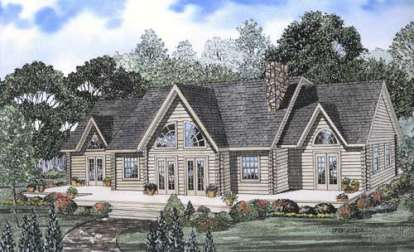 3 Bed, 2 Bath, 2412 Square Foot House Plan - #110-00912