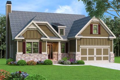 3 Bed, 2 Bath, 2084 Square Foot House Plan - #009-00117