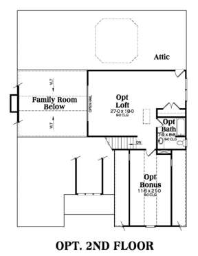 Floorplan 2 for House Plan #009-00117