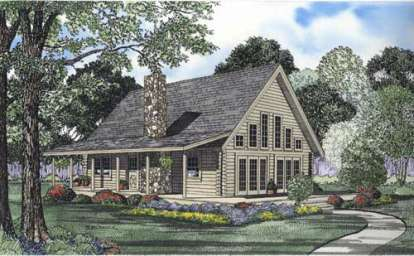 3 Bed, 2 Bath, 1581 Square Foot House Plan - #110-00927