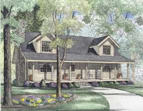 Cabin House Plan #110-00936 Elevation Photo