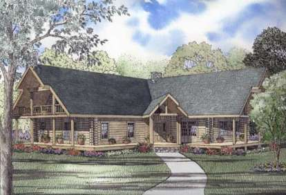 3 Bed, 2 Bath, 3378 Square Foot House Plan - #110-00948