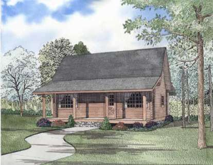 2 Bed, 1 Bath, 977 Square Foot House Plan - #110-00950