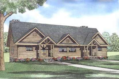 4 Bed, 4 Bath, 1830 Square Foot House Plan - #110-00956