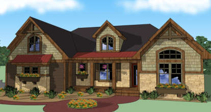 3 Bed, 4 Bath, 2202 Square Foot House Plan - #098-00260