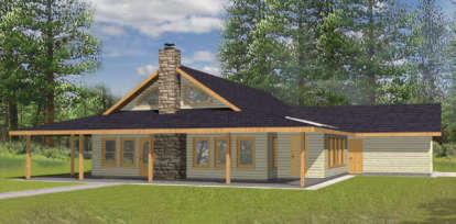 2 Bed, 2 Bath, 2008 Square Foot House Plan - #039-00102