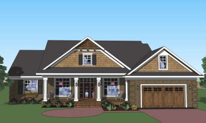 3 Bed, 2 Bath, 2244 Square Foot House Plan - #098-00264