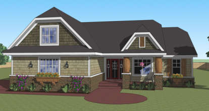 3 Bed, 2 Bath, 1824 Square Foot House Plan - #098-00265