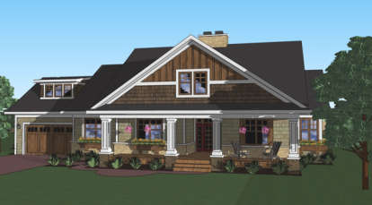 3 Bed, 2 Bath, 1999 Square Foot House Plan - #098-00267
