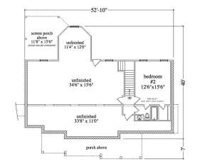 Floorplan 1 for House Plan #957-00049