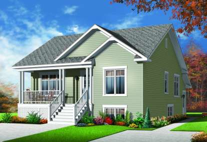 4 Bed, 2 Bath, 1888 Square Foot House Plan - #034-00966