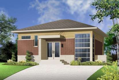 2 Bed, 2 Bath, 1587 Square Foot House Plan - #034-00982