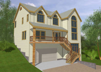 4 Bed, 2 Bath, 2592 Square Foot House Plan - #039-00107