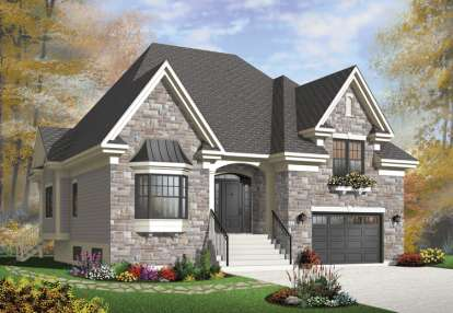3 Bed, 2 Bath, 1931 Square Foot House Plan - #034-00986