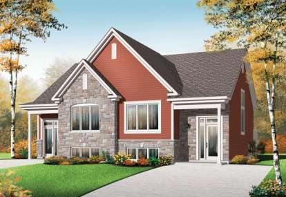3 Bed, 1 Bath, 3310 Square Foot House Plan - #034-01000