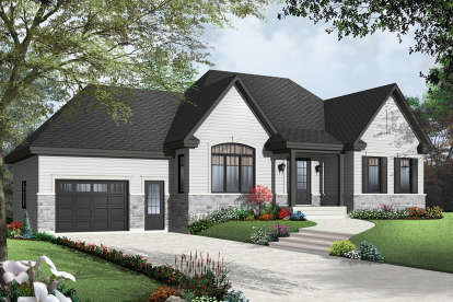 2 Bed, 1 Bath, 1148 Square Foot House Plan - #034-01002