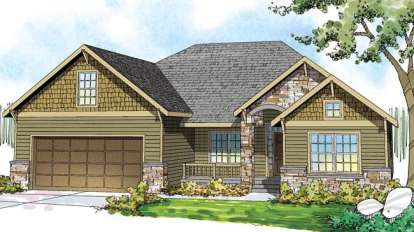 3 Bed, 2 Bath, 2433 Square Foot House Plan - #035-00575