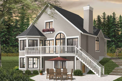 3 Bed, 2 Bath, 1680 Square Foot House Plan - #034-01020
