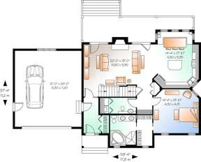Floorplan 1 for House Plan #034-01039