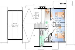 Floorplan 2 for House Plan #034-01039