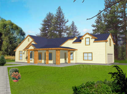 3 Bed, 2 Bath, 2285 Square Foot House Plan - #039-00114