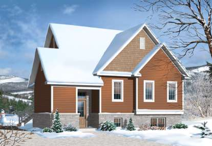 3 Bed, 2 Bath, 1742 Square Foot House Plan - #034-01047