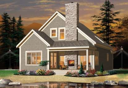 2 Bed, 2 Bath, 1742 Square Foot House Plan - #034-01049