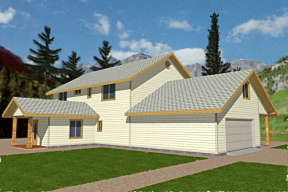 Country House Plan #039-00115 Elevation Photo