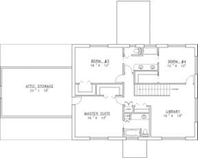 Second Floor for House Plan #039-00115