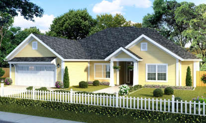 5 Bed, 3 Bath, 1988 Square Foot House Plan - #4848-00003
